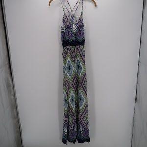 Charlotte Russe Boho Side Slit Halter Maxi Dress